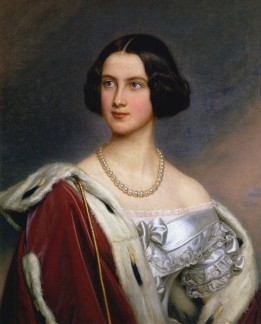 Portret van Marie van Pruisen, geschilderd door Joseph Karl Stieler in 1843 - Slot Nymphenburg, Galerij van Schoonheden (Publiek domein)